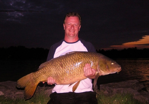 Andrew -  Magnificent - 41.lb. Carp  At Lakeside Cottages