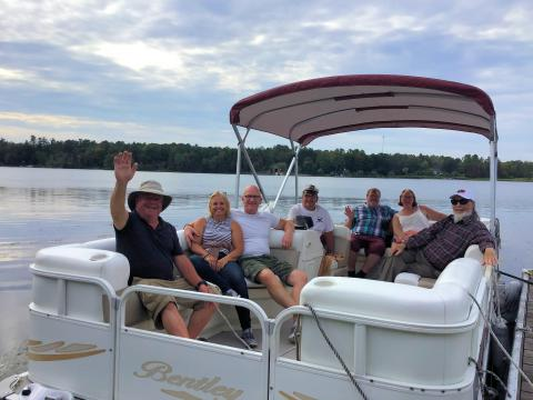 Captain Mike with Guests & Friends