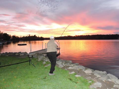 Sunset Fishing at Lakeside Cottages
