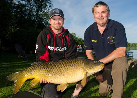 Pete Bowman 37.5 lb with Mike