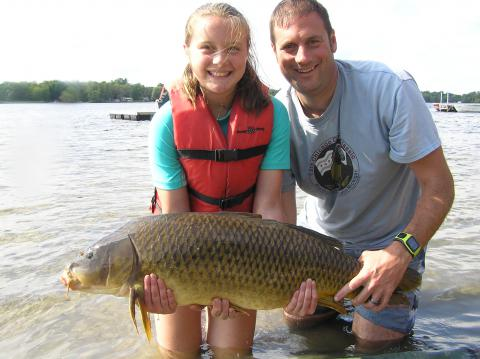 Katy's 28.5 lb Fish with Dad Jeff