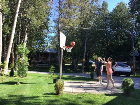 Basketball Fun at Lakeside Cottages
